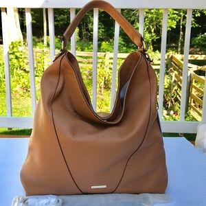Rebecca minkoff almond Moto hobo leather bag